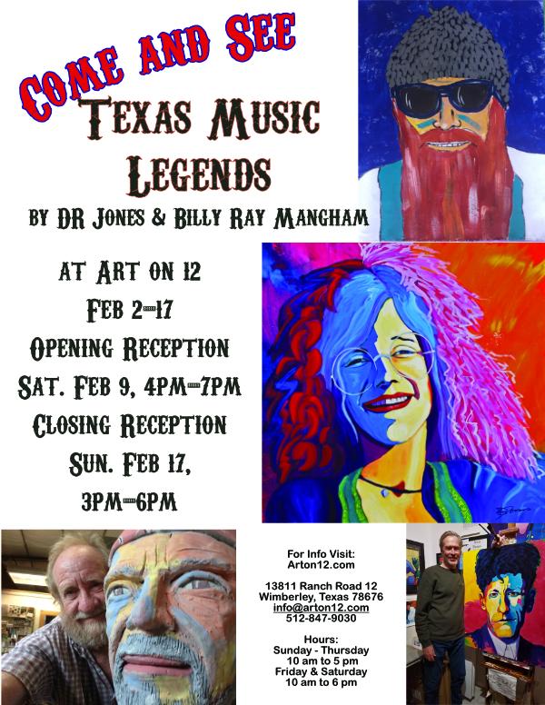 Texas Music Legends by DR Jones & Billy Ray Mangham