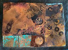 Jackie Stence FireOxide Patina on Metal Collage