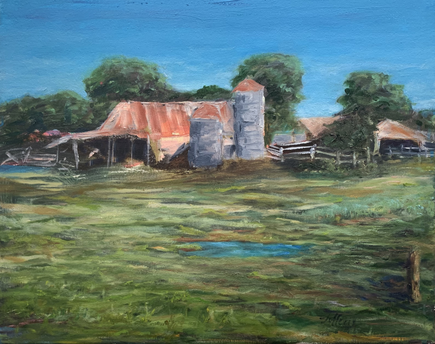 Old Kyle Farm by Jefferis, 16x20, Oil $550